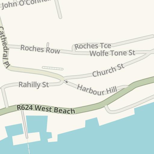 Waze Livemap Driving Directions To Bella Vista Hotel Cobh Ireland