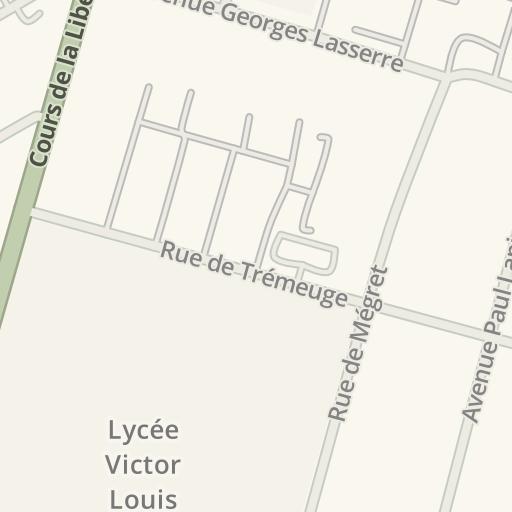 Carte Universite De Bordeaux.Waze Livemap Driving Directions To Universite De Bordeaux