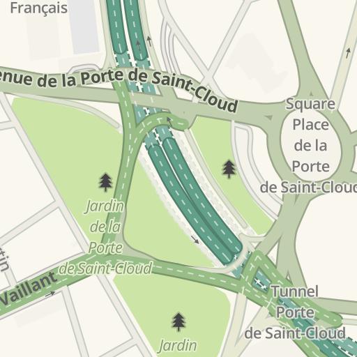 Waze Livemap - Driving Directions to Jardin Place de la Porte de ...
