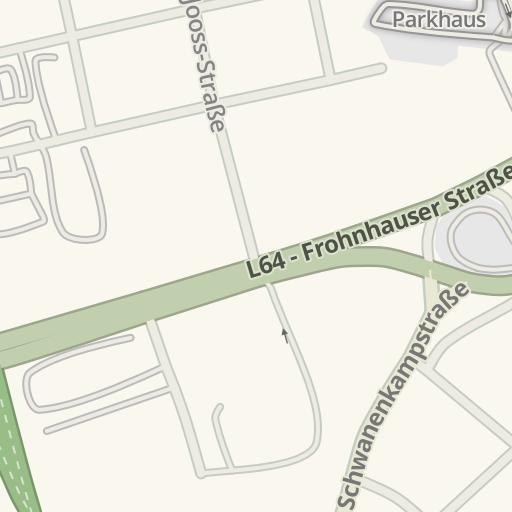 Waze Livemap Driving Directions To Möbel Roller Essen Germany
