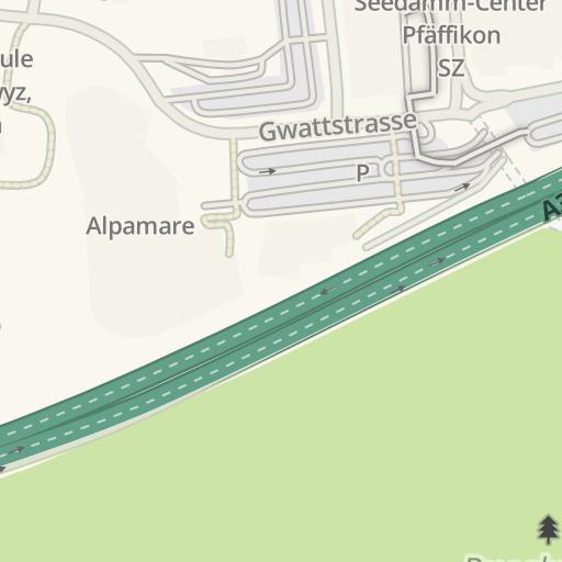 Waze Livemap Driving Directions To Möbel Märki Pfäffikon