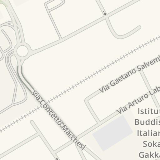 Waze Livemap Driving Directions To Ricci Casa Corsico Italy