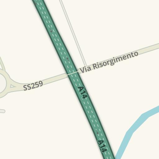 Waze Livemap Driving Directions To Mondo Convenienza Colonnella