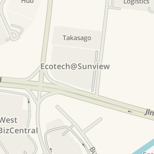 Waze Livemap - Cómo llegar a Showa Denko, Tuas, Singapore
