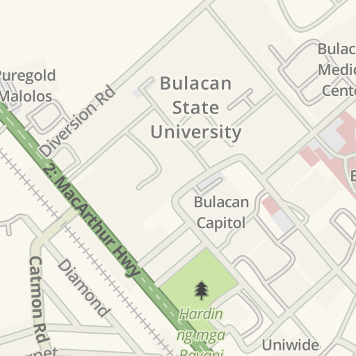 Waze Livemap Driving Directions To Bulacan Capitol Malolos