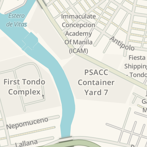 Waze Livemap Driving Directions To Psacc Container Yard 7 Manila Philippines