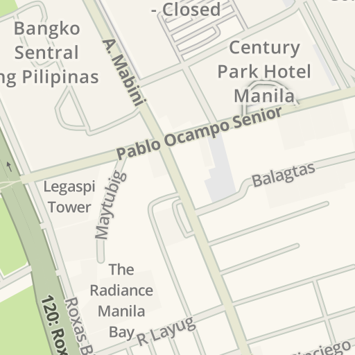 Waze Livemap Driving Directions To Patio De Manila Manila