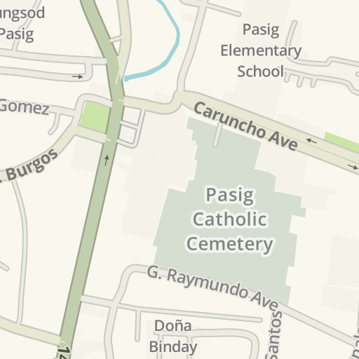 Rizal Philippines Map.Waze Livemap Driving Directions To Rizal High School Pasig