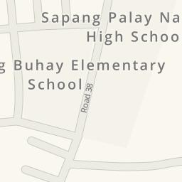 Waze Livemap Driving Directions to Sapang Palay National High
