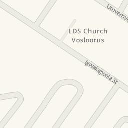 Driving Directions To LDS Church Vosloorus Vosloorus South - Vosloorus map